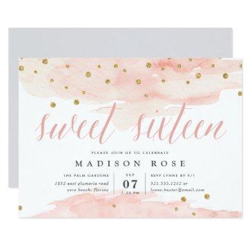 confetti pop | sweet sixteen birthday party invitation