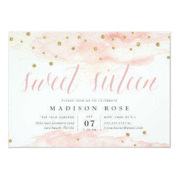 Small Confetti Pop | Sweet Sixteen Birthday Party Invitation Front View