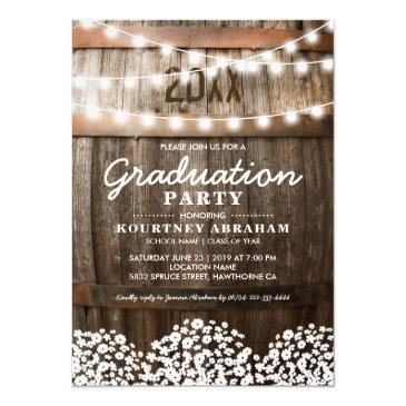 country rustic graduation party | class of 2019