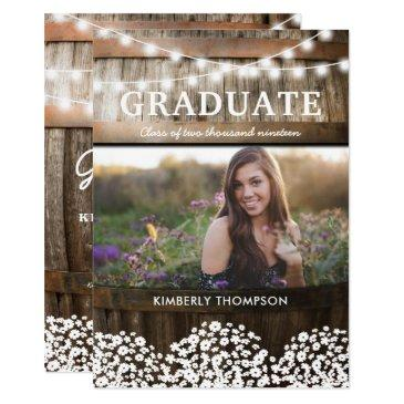 country rustic photo 2019 graduation party
