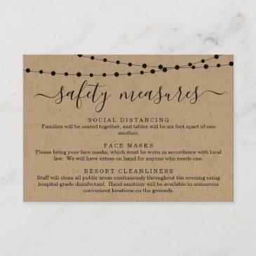 covid 19 safety mask social distancing information enclosure invitations