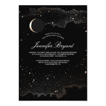 Small Crescent Moon And Night Stars Sweet 16 Front View