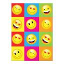 cute kids emoji party happy face emoticon invitation