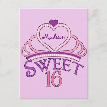 cute sweet sixteen birthday party invitations pink