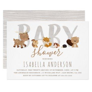 cute woodland animals | gender neutral baby shower