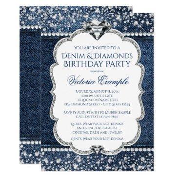 denim and diamond bling birthday party