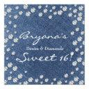 denim diamonds scattered bling sweet 16 invitation