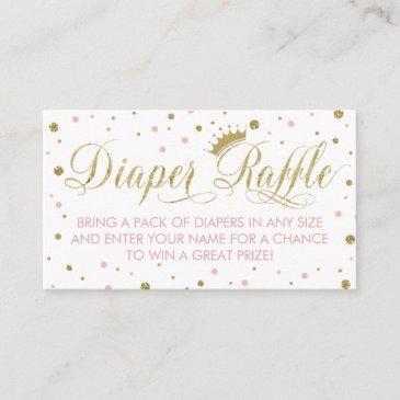 diaper raffle ticket, princess, pink enclosure