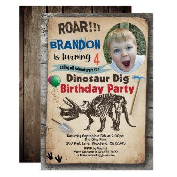 dinosaur birthday photo  realistic