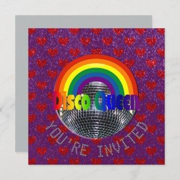 disco just dance party | retro 70s disco birthday invitation