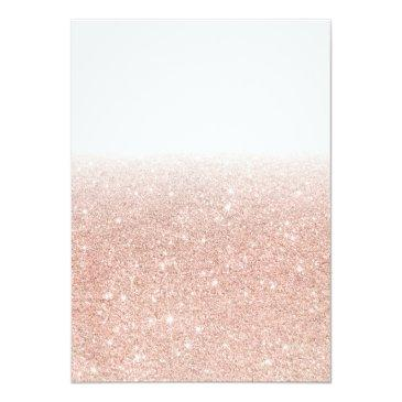 Small Eiffel Tower Rose Gold Glitter White Sweet 16 Invitation Back View