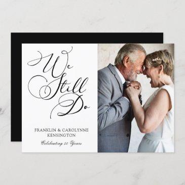 elegant anniversary vow renewal photo invitation