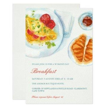 elegant breakfast invitation