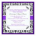 elegant damask swirl invite [purple]