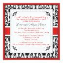 elegant damask swirl invite [red]