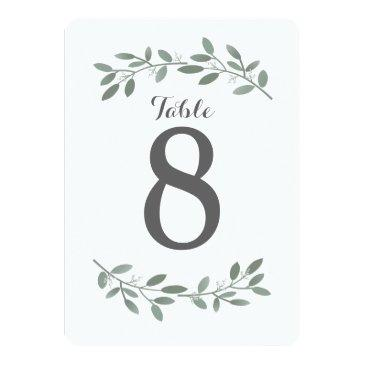 elegant eucalyptus wedding suite table numbers