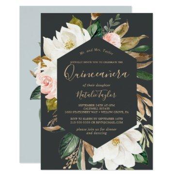 elegant magnolia | black and white quinceañera