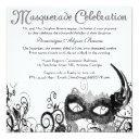 elegant masquerade swirl invite [black]