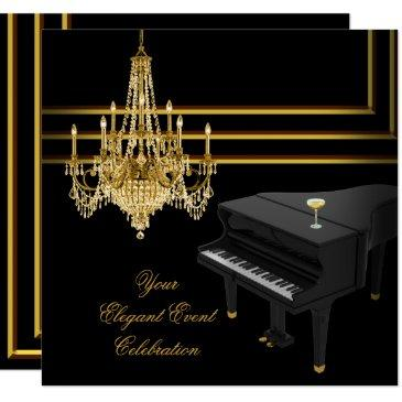 elegant party piano chandelier gold champagne