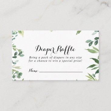 elegant tropical green diaper raffle ticket enclosure invitations