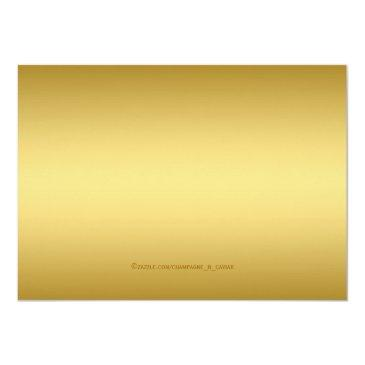 Small Elegant Vip Golden Ticket Birthday Party Invitations Back View