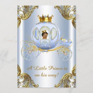ethnic prince royal carriage prince baby shower invitation