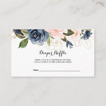 exquisite fall floral diaper raffle enclosure invitations
