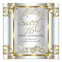 fairytale sweet 16 16th birthday gold silver 2 invitation