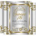 fairytale sweet 16 16th birthday gold silver 3 invitation