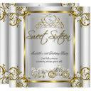 fairytale sweet 16 16th birthday gold silver invitations