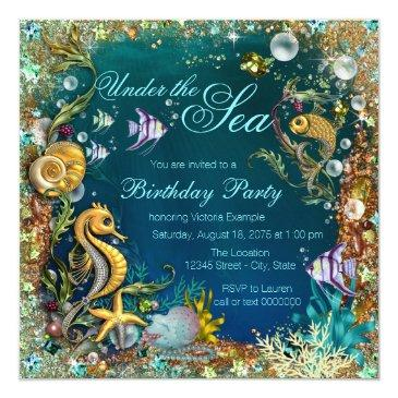 Small Fancy Under The Sea Birthday Party Front View