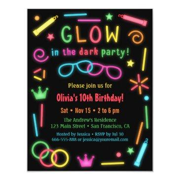 faux glow in the dark birthday party