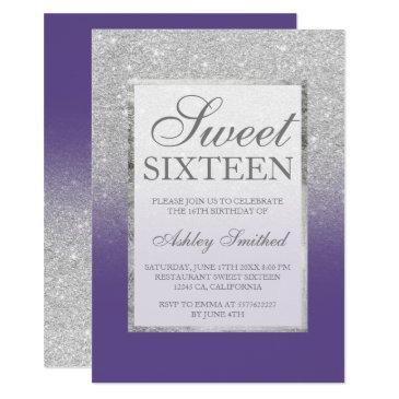 Silver Sweet 16 Invitations RawrPink