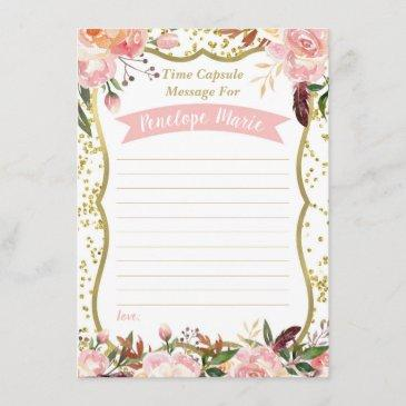 first birthday time capsule invitations