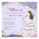 floral muse sweet 16 birthday party invitation