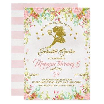 flower fairy birthday invitation