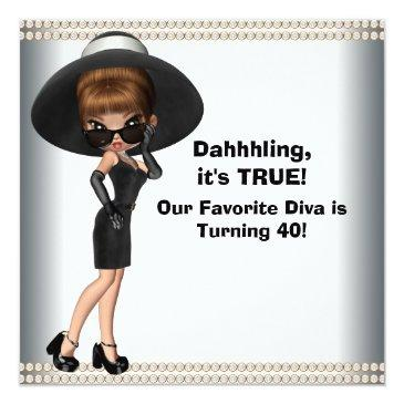 fun favorite diva womans any number birthday party invitations