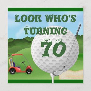 fun golf 70th birthday invitations template