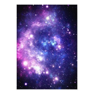 Small Galaxy Stars Out Of This World Space Birthday Invitation Back View