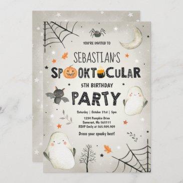 ghost halloween birthday invite spooktacular party