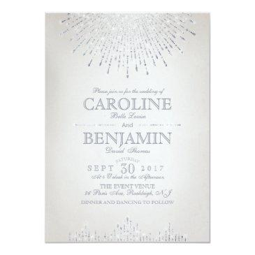 glam silver glitter art deco vintage wedding