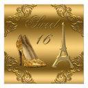 glamorous paris gold glitter high heels sweet 16
