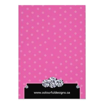 Small Glamourous Sweet Sixteen Birthday Party Invitation Back View