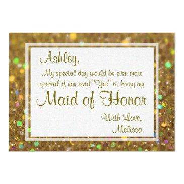 glitter glam will you be my maid of honor