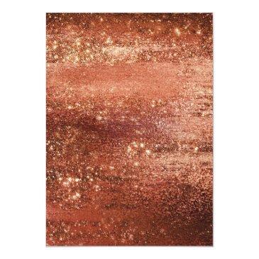 Small Glitzy Minimalism | Dusty Burnt Orange Sweet 16 Invitation Back View