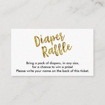 gold glitter diaper raffle ticket enclosure invitations