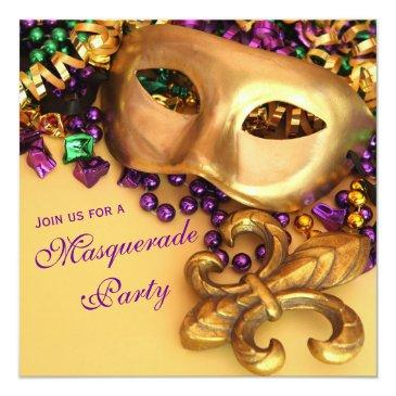 gold mardi gras masquerade party