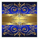 gold royal blue quinceanera