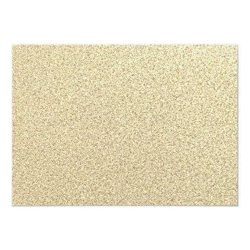 Small Gold Sparkle Glitter Dress Sweet 16 Birthday Invitation Back View