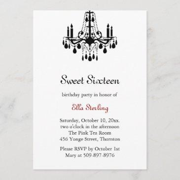 grand ballroom birthday invitation (white)